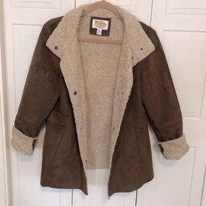 Talbots Sherpa & Faux Suede Jacket
